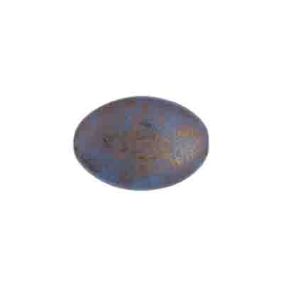 GLASS BEAD FLAT OVAL 16x11mm PURPLE MARBLE image