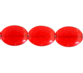 GLASS BEAD FLAT OVAL 12x9mm Siam Ruby image