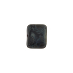 GLASS PILLOW BEAD 8x11mm BLACK MARBLE/MATTE STRUNG image