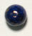 GLASS BEAD ROUND 8MM LAPIS MATRIX STRUNG image