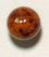 GLASS BEAD ROUND 8MM AMBER MATRIX STRUNG image