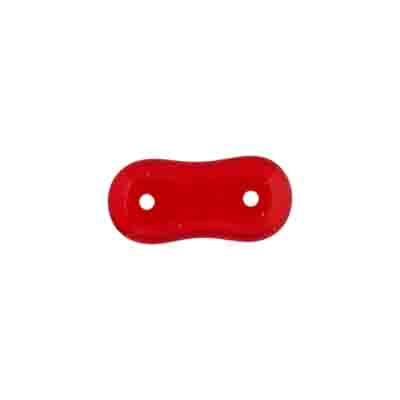 GLASS BEAD 2-HOLE SPACER 4x16 SIAM RUBY STRUNG image