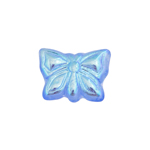 GLASS BEAD BUTTERFLY 15x12MM LIGHT SAPPHIRE AB-STRUNG image