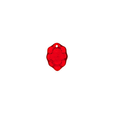 GLASS BEAD RASPBERRY 14x10mm RED - STRUNG image
