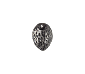 GLASS BEAD 12x9mm CRYSTAL BLACK PAINTED image