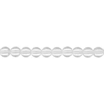 GLASS 3MM CRYSTAL ROUND BEAD STRUNG 3 STRG x 100 PCS. image