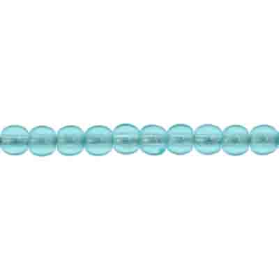 GLASS 3MM BLUE ZIR.ROUND BEAD STRUNG 3 STRG X 100 PCS image