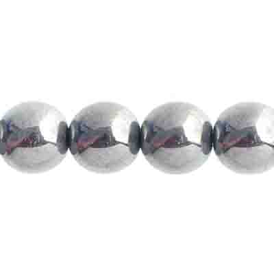 Czech Druk 10mm (Apx 18pcs) Transparent Crystal Chrome image
