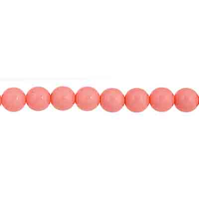 Czech Glass Beads 8in Strand 4mm (45pcs) Vintage Pink image