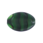Glass Oval 20x14mm Green Earth Black Overlay image