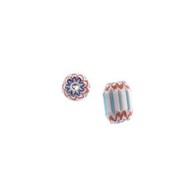 GLASS CHEVRON BEADS 6/8mm TURQ image