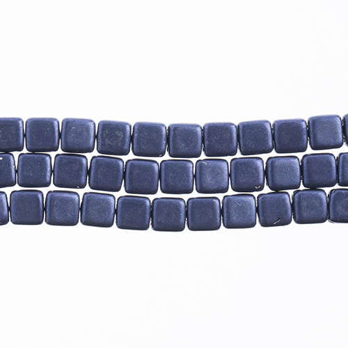 CzechMates 2-Hole Tile Bead 6mm (50pcs/Str.) Saturated Metallic Ultra Violet image