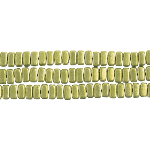CzechMates 2-Hole Bricks 3x6mm (50pcs/Str.) Saturated Metallic Lime Punch image