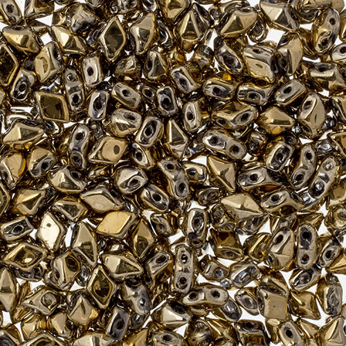 Czech Glass Mini DIAMONDUO 4x6mm apx25g/325pcs Aurum image