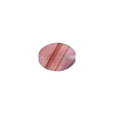 GLASS PRESSED BEADS 12x9mm FLAT OVAL RED/BROWN MATT image