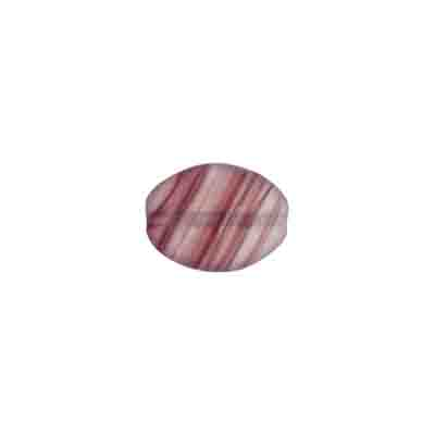 GLASS PRESSED BEADS 12x9mm FLAT OVAL DARK VIOLET MATT image