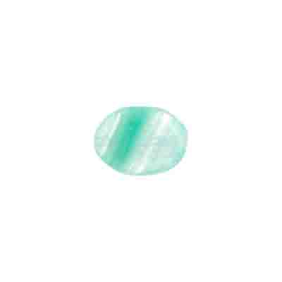 GLASS PRESSED BEADS 12x9mm FLAT OVAL MINT GREEN image