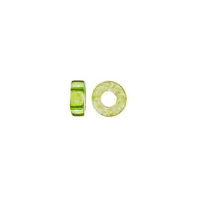 GLASS RINGS 32/0 TR.LT.GREEN SOLGEL W/2.8mm HOLE image