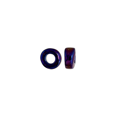 GLASS RINGS 32/0 BLUE IRIS W/ 2.8mm HOLE image