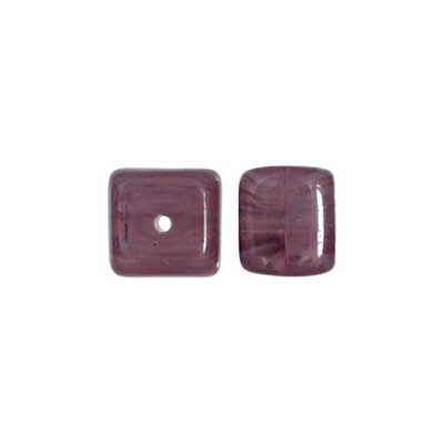 Glass Cube 8x11mm Dark Amethyst image