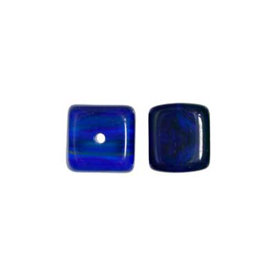 Glass Cube 8x11mm Dark Blue image