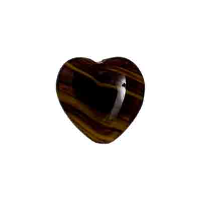GLASS PRESSED BEADS HEART 16MM BROWN MARBLE image