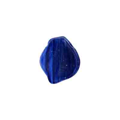 GLASS PRESSED BEADS 12x15mm MATT DARK BLUE image
