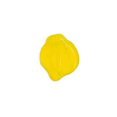 GLASS PRESSED BEADS 12x15mm YELLOW image
