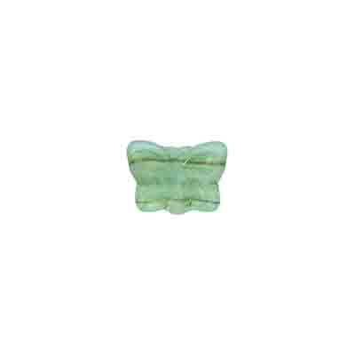GLASS PRESSED BEADS 9x7mm MATT GREEN image