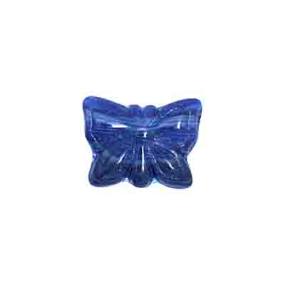 GLASS PRESSED BEADS 15x12mm BLUE image