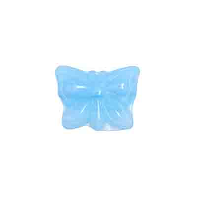 GLASS PRESSED BEADS 15x12mm LIGHT BLUE image