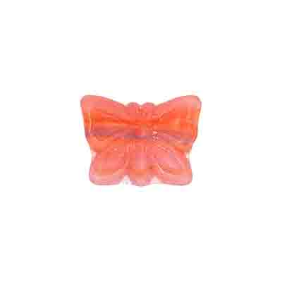 GLASS PRESSED BEADS 15x12mm MATT PINK image