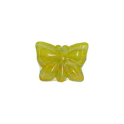 GLASS PRESSED BEADS 15x12mm YELLOW image