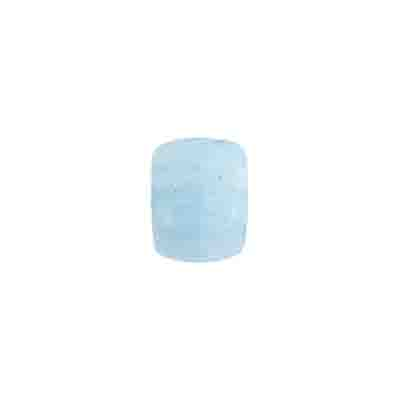 GLASS PRESSED BEADS 8x11mm CUBE LIGHT BLUE image