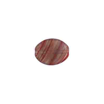 GLASS PRESSED BEADS 12x9mm FLAT OVAL GREY/RED STRIPE image