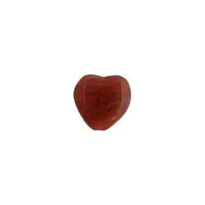 GLASS PRESSED BEADS 10x10mm HEARTS RED/BROWN STRIPE image