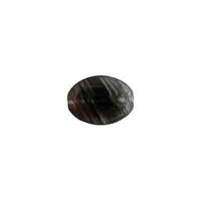 Glass Bead Marbelized Flat Ova 12x9mm Dark Brown image