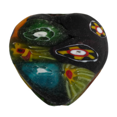 GLASS BEADS MOSAIC HEART 28MM image