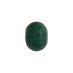 CERAMIC BEAD ROUND 10.3X12.7MM DARK GREEN image