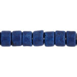 CERAMIC BEAD CYLINDER 6x4mm ELECTRIC BLUE image
