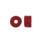 CERAMIC BEAD CYLINDER 8x5mm RED image