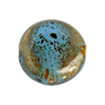 "CERAMIC BEAD ROUND 19mm 8""STR (approx.10pcs) BLUETURQUOISE image"