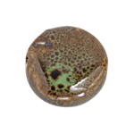 "CERAMIC BEAD ROUND 19mm 8""STR (approx.10pcs) GREEN TURQUOISE image"