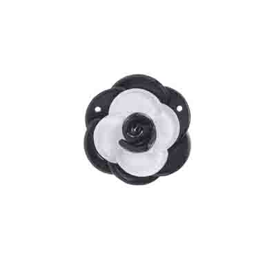 Trop Punch 3D Flower Link 34mm Black/White 1pcpc 1pc image