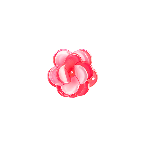 Trop Punch 3D Flower Link 40mm Rose Pink/Lilac 1pc 1pc image