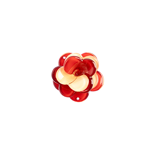 Trop Punch 3D Flower Link 40mm Rose Salmon/Red 1pc image