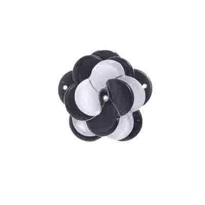 Trop Punch 3D Flower Link 40mm Rose Black/White 1pc image