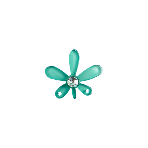 Trop Punch Flower Link 43mm Orchid Portela Blue 1pc image