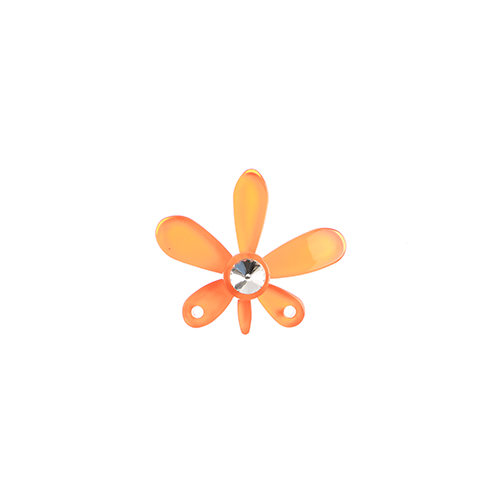 Trop Punch Flower Link 43mm Orchid Sun Orange 1pc image