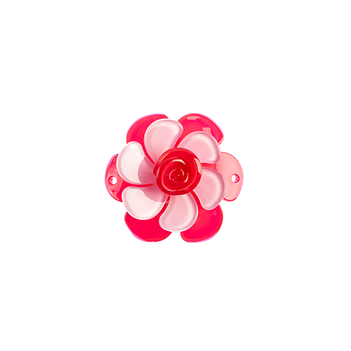 Trop Punch 3D Flower Link 53mm Gardenia Hot 1pc Pink/Lilac image